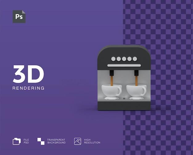 Ilustração 3d da máquina de café