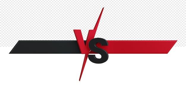 Ilustração 3d da tela batalha vs versus isolada