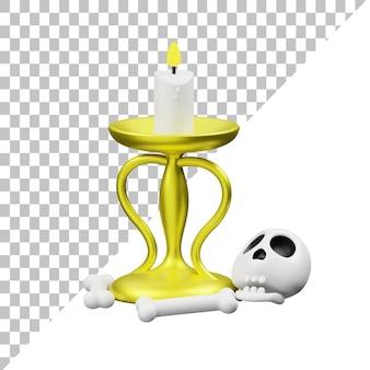 Ilustração 3d da vela
