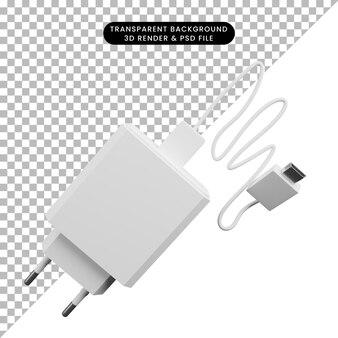 Ilustração 3d de carregador de objeto simples