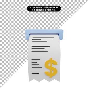 Ilustração 3d de fatura de objeto simples