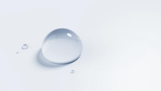 Ilustração 3d de gota d'água isolada