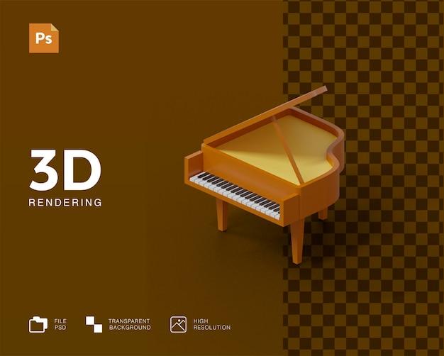 Ilustração 3d de piano