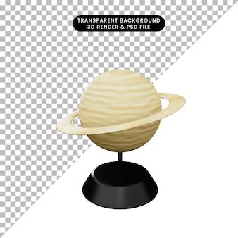 Ilustração 3d de planetas saturno