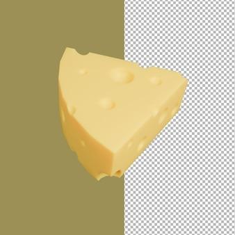 Ilustração 3d de queijo