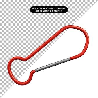 Ilustração 3d de subida em gancho de objeto simples