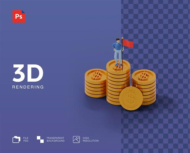 Ilustração 3d de sucesso