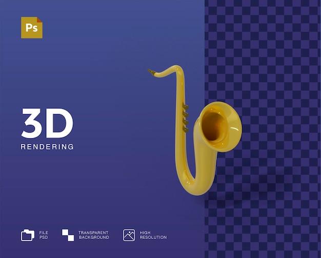 Ilustração 3d de trompete
