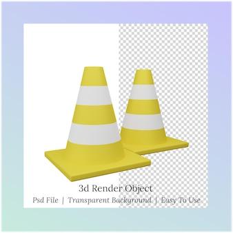 Ilustração 3d de um cone para as necessidades do dia do trabalho