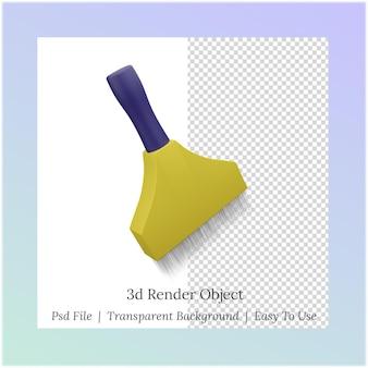 Ilustração 3d de um pincel para as necessidades do dia do trabalho