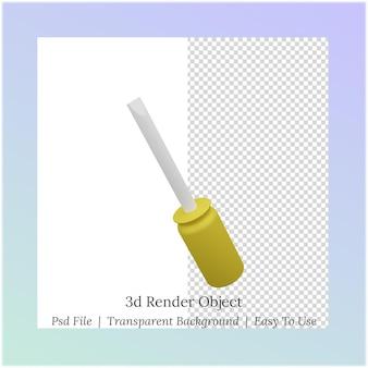 Ilustração 3d de uma chave de fenda para as necessidades do dia do trabalho