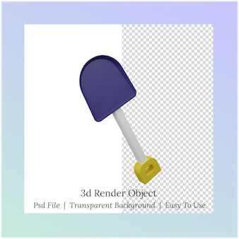 Ilustração 3d de uma pá para necessidades de mão de obra