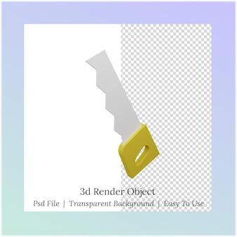 Ilustração 3d de uma serra para as necessidades do dia do trabalho