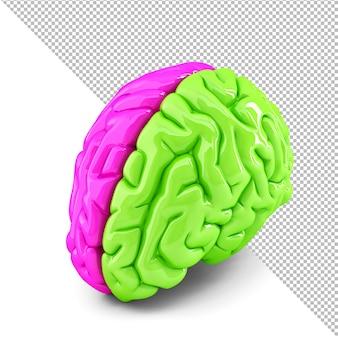 Ilustração 3d do conceito de cérebro criativo