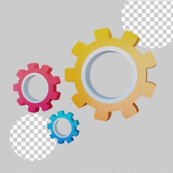 Ilustração 3d do conceito de configuração