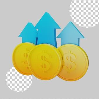 Ilustração 3d do conceito de lucro