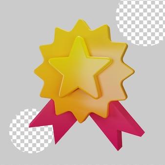 Ilustração 3d do conceito de recompensa