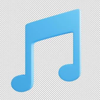 Ilustração 3d do ícone da música