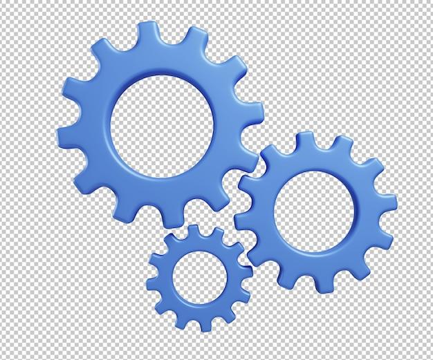 Ilustração 3d do ícone de configurações