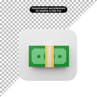 Ilustração 3d do ícone simples da interface do usuário do elemento iu