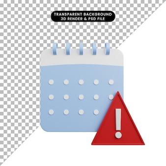 Ilustração 3d do ícone simples do travesseiro azul