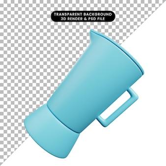 Ilustração 3d do liquidificador de utensílios de cozinha