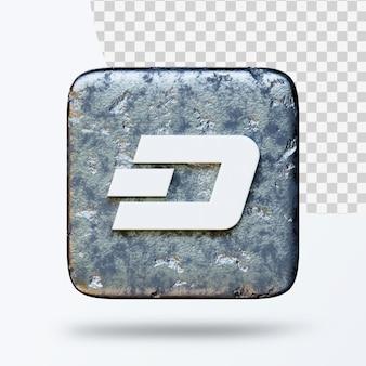 Ilustração 3d do logotipo do símbolo de criptomoeda