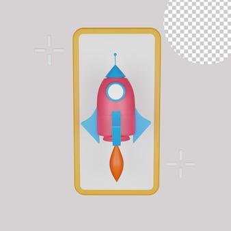Ilustração 3d do megafone para o seu negócio