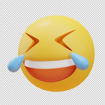 Ilustração 3d emoji rindo