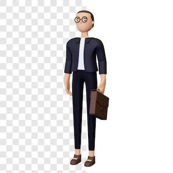 Ilustração 3d empresário