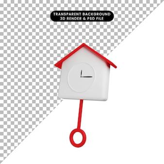 Ilustração 3d objeto simples de parede de alarme