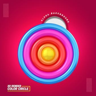 Ilustração 3d para a composição do arco-íris para o dia das crianças