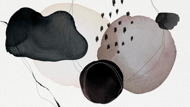 Ilustração colorida abstrata do fundo dos círculos em aquarela