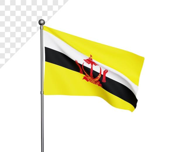 Ilustração da bandeira 3d brunei darussalam