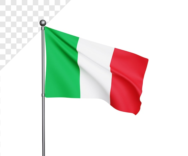 Ilustração da bandeira 3d itália