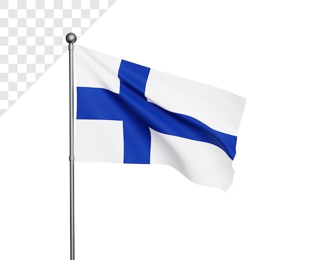 Ilustração da bandeira da finlândia 3d