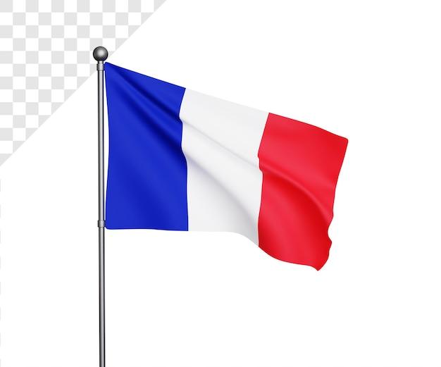 Ilustração da bandeira da frança 3d
