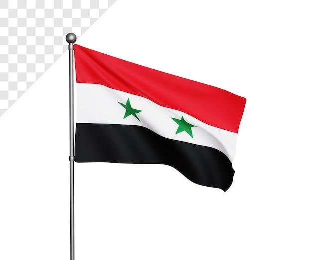 Ilustração da bandeira da síria 3d
