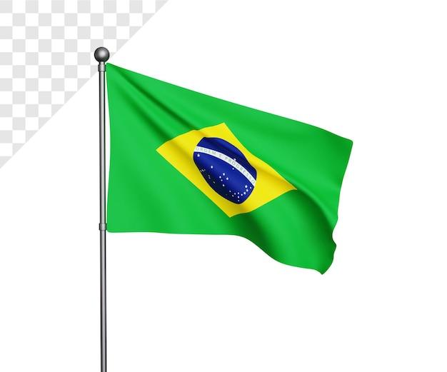 Ilustração da bandeira do brasil 3d