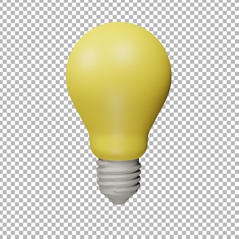 Ilustração da lâmpada 3d