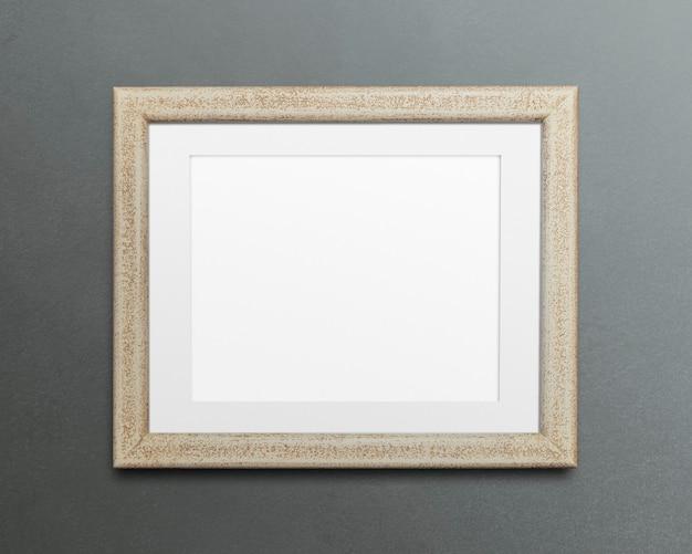 Ilustração da maquete do porta-retrato bege