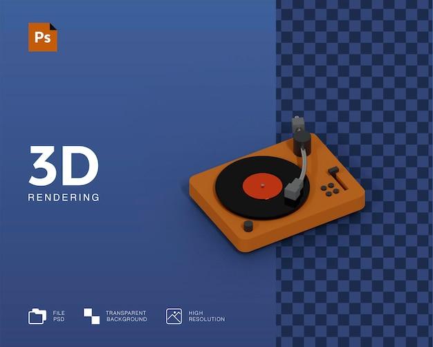 Ilustração da plataforma giratória 3d