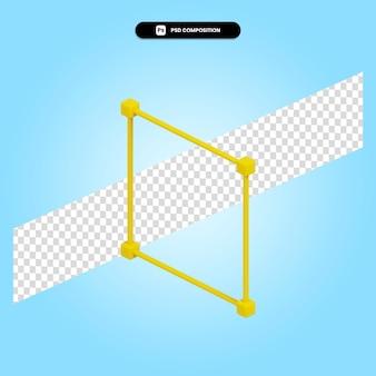 Ilustração da renderização 3d da caixa delimitadora isolada