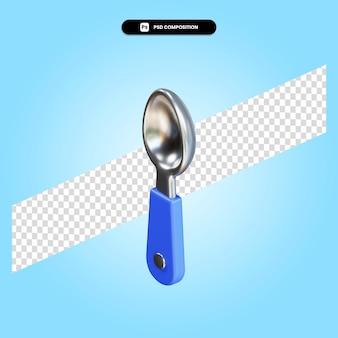 Ilustração da renderização 3d da colher isolada