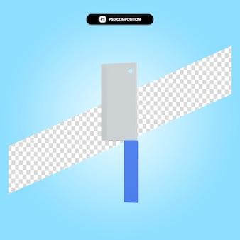 Ilustração da renderização 3d da faca isolada