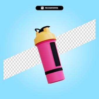 Ilustração da renderização 3d da garrafa de água esportiva isolada