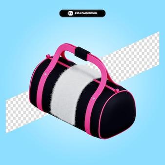 Ilustração da renderização 3d da sacola esportiva isolada