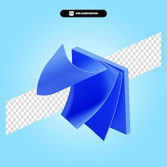 Ilustração da renderização 3d das notas adesivas isolada