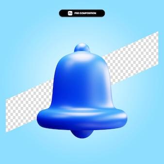 Ilustração da renderização 3d de bell isolada
