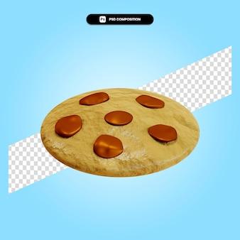 Ilustração da renderização 3d do biscoito isolada
